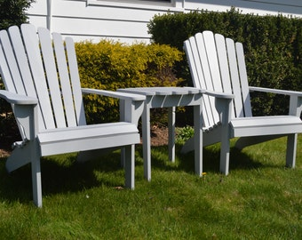Set Of Adirondack Furniture, Adirondack Chairs And Table, Patio Furniture  Set, Adirondack Set, Outdoor Furniture Set. Patio Furniture. Deck