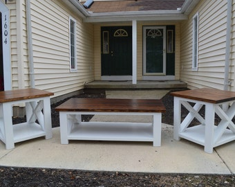 Superieur Solid Farmhouse X Style Living Room Set, Living Room Furniture, Country  Furniture, Farmhouse Furniture, Country Decor, Wooden Table, Dining
