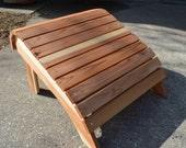 Oversized Adirondack Ottoman, cedar footrest, wooden ottoman cedar ottoman, adirondack chair, footrest, wooden footrest, outdoor furniture