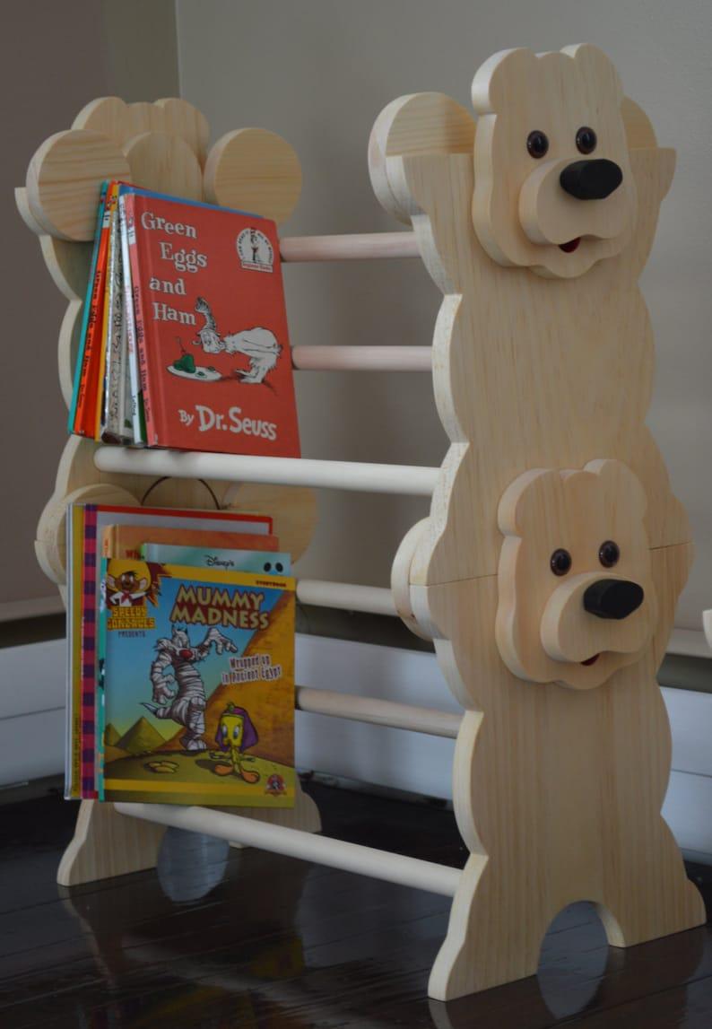 Stapelbare Bär Bücherregal Kinder Möbel Kinder Bücherregal | Etsy