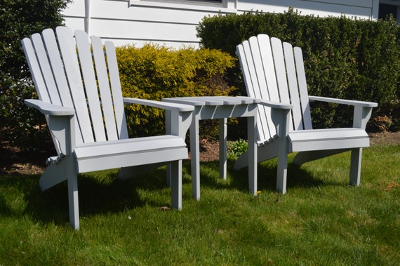 Set Of Adirondack Furniture Adirondack Chairs And Table Etsy