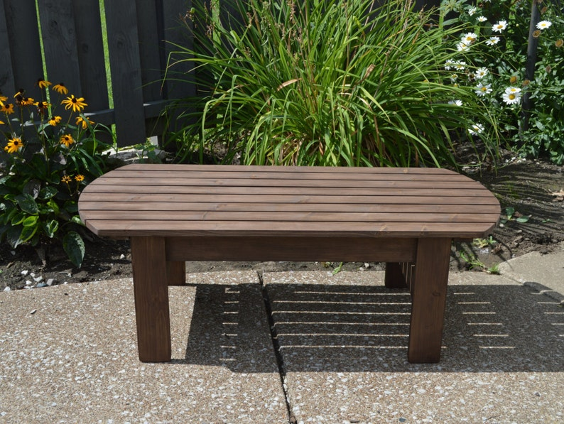 Bon Pine Adirondack Coffee Table, Patio Table, Wooden Table, Outdoor Table,  Deck Table, End Table, Pine Table, Outdoor Furniture, Adirondack