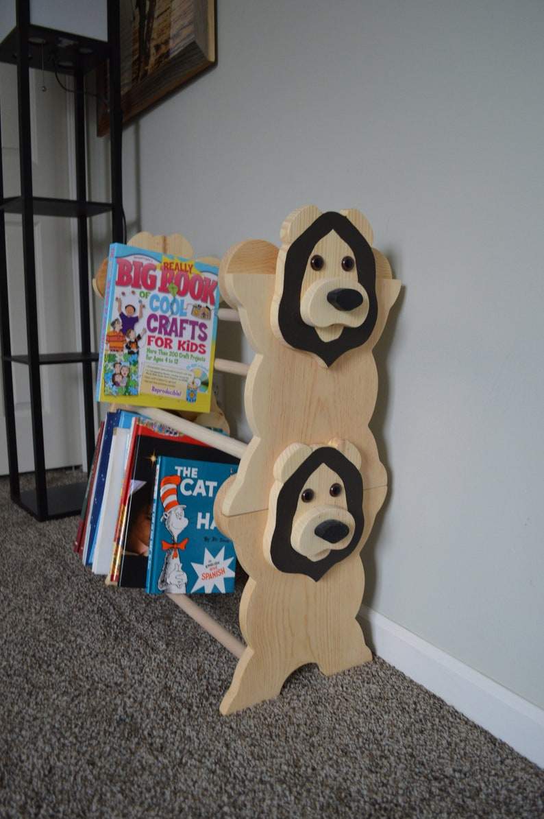lion decor nursery book nursery furniture book caddy kids furniture Kid/'s Bookcase Kid/'s Bookshelf Stackable Lion Bookshelf