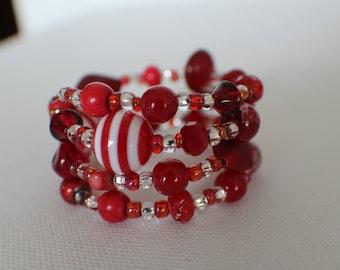 Cherry-Flavored- Coil Bracelet