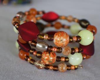 Autumn- Coil Bracelet