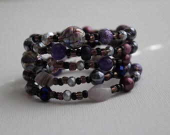 Violet Rhapsody- Coil Bracelet