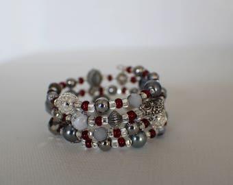Cranberries- Coil Bracelet