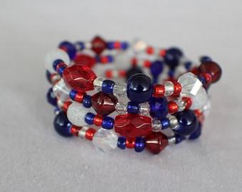 4th of July- Coil Bracelet
