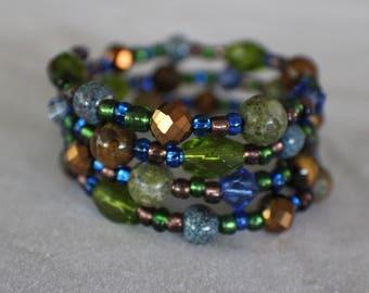 Earth- Coil Bracelet
