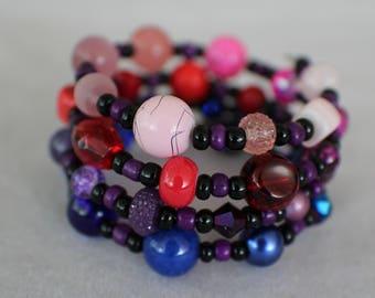 Garnet (SU)- Coil Bracelet