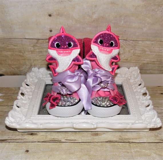 Baby Shark Shoes Baby Shark Birthday Shoes Baby Shark Etsy