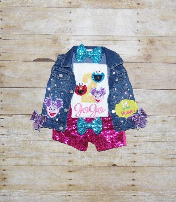 Sesame Street Birthday Outfit Sesame Street Birthday Vest Etsy