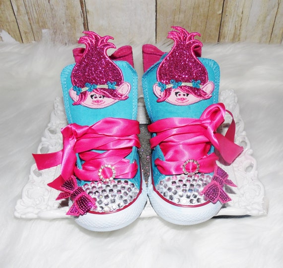 Trolls converse shoes, Trolls birthday shoes, Poppy birthday shoes, trolls live shoe, Poppy and Branch converse shoes, Troll Sneakers