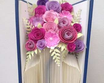 Book Folding Pattern - Vase - Flower Vase + Free Tutorial