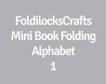 Mini Alphabet Pattern Make Longer Words Names Or DatesPDF Book Folding Folded Art Origami Free Instructions Tutorial