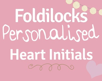 Personalised Initial Book Folding Collection Alphabet. A-Z, Heart, & and +