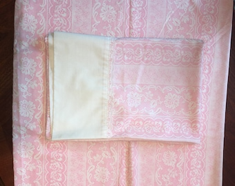 Vintage Cannon Pink and White Pillowcases
