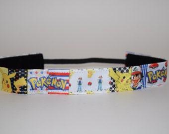 Poke'mon Headband- Pokemon Headband- Ash Ketchum- Pikachu Headband- Pokemon Go Headband
