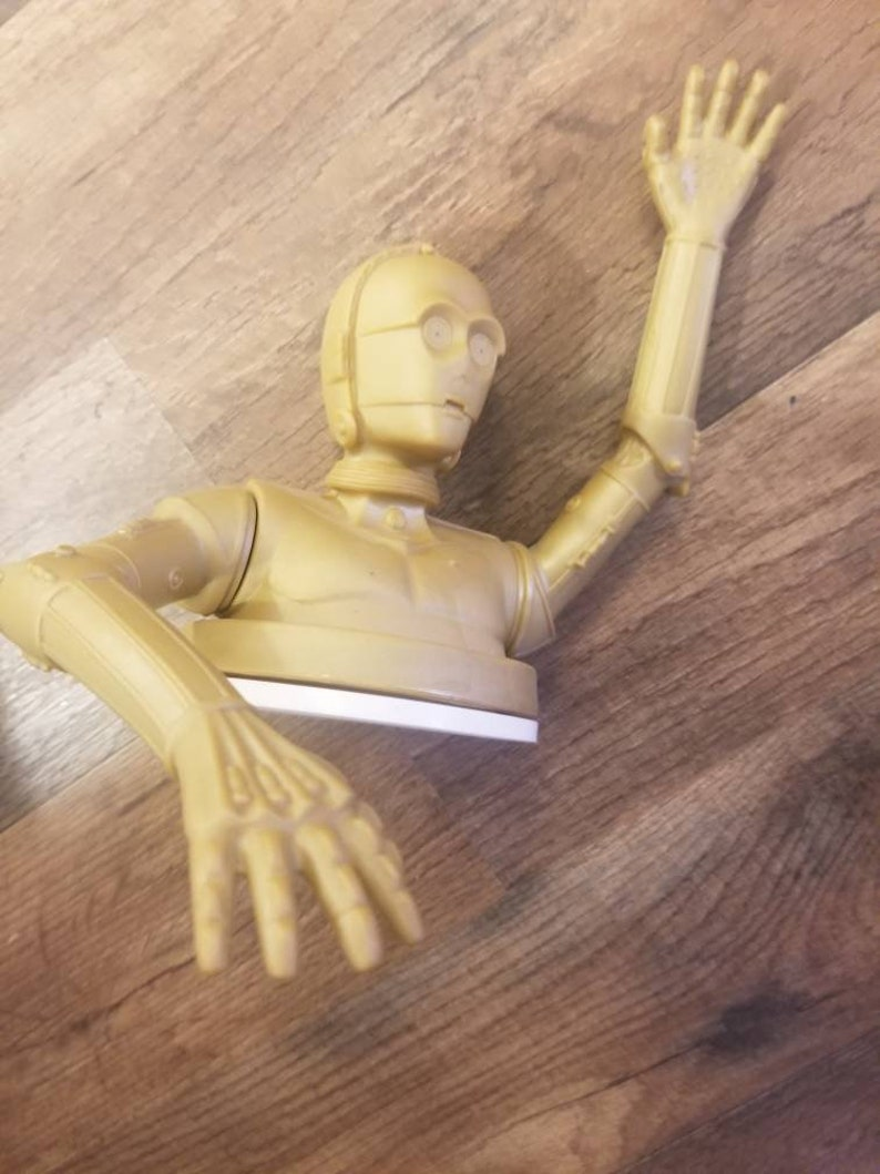 Star Wars Collectible Protocol Droid tors plastic toy Glass top cover 1997s Movable hands