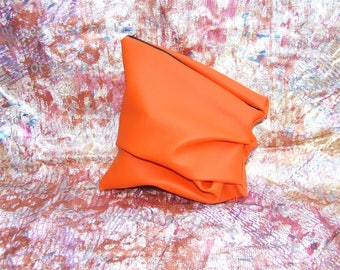 One Off Bright Orange Hand Sculpted Bag