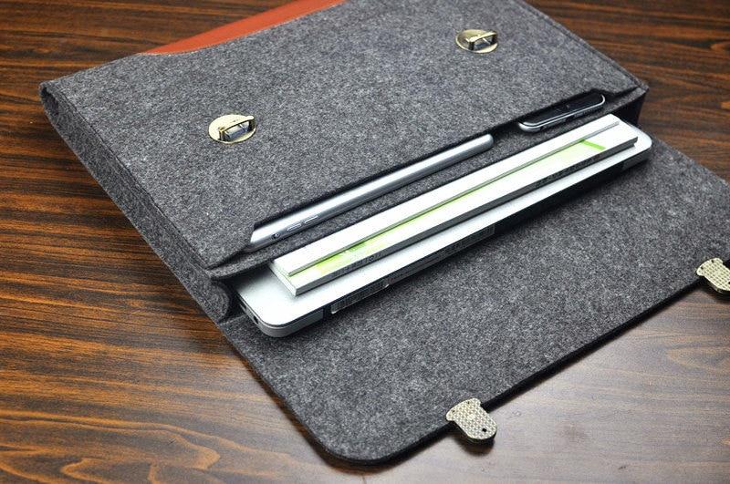 the latest 89e59 c60ed New 13 Macbook air felt laptop case,Mac Pro 13/15 leather laptop Sleeve,New  ipad pro 11
