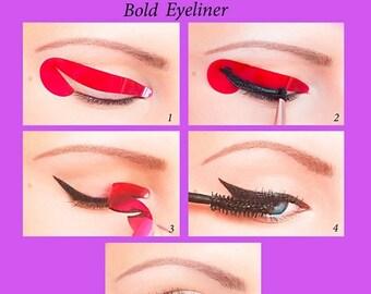 ORIGINAL Quick Eyeliner Stickies Stickers Stencils Cosmetic Eye Makeup Tool MINI SET 24 pcs