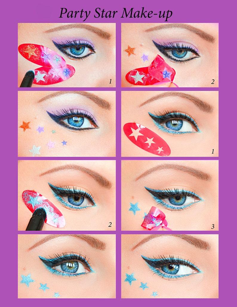 Cat eyeliner stencil tutorial