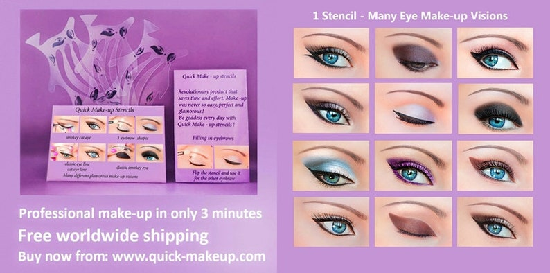 Stencil Trucco Occhio Veloce 12 Stickies Eyeliner Ombretto Etsy