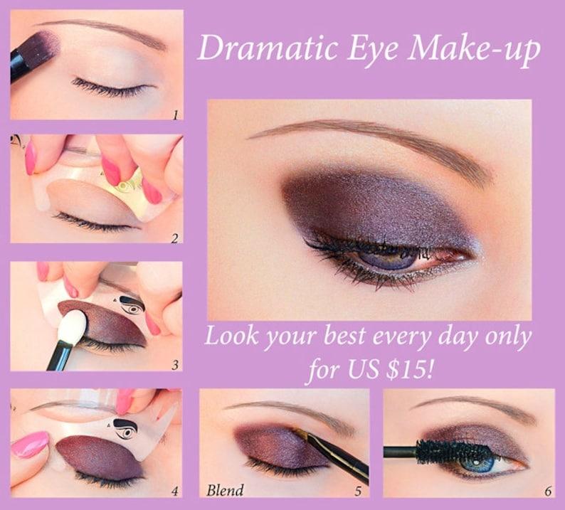 Quick Eye Makeup Stencils  12 Stickies Eyeliner Eyeshadow image 0