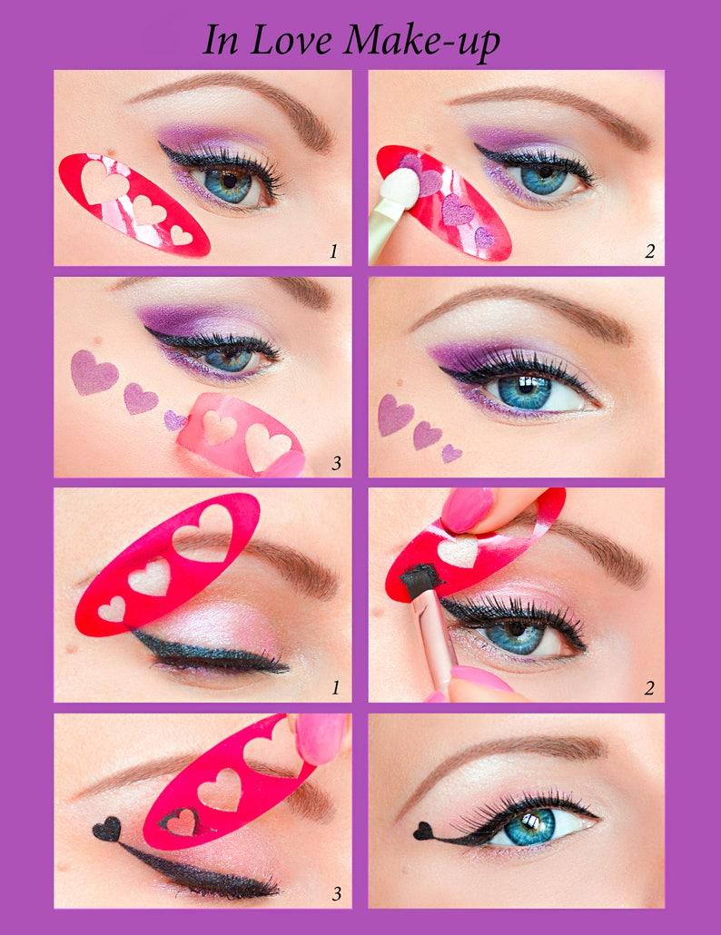 Wholesale-Multifunction Eye Stencil 3 Style Cat Eyeliner
