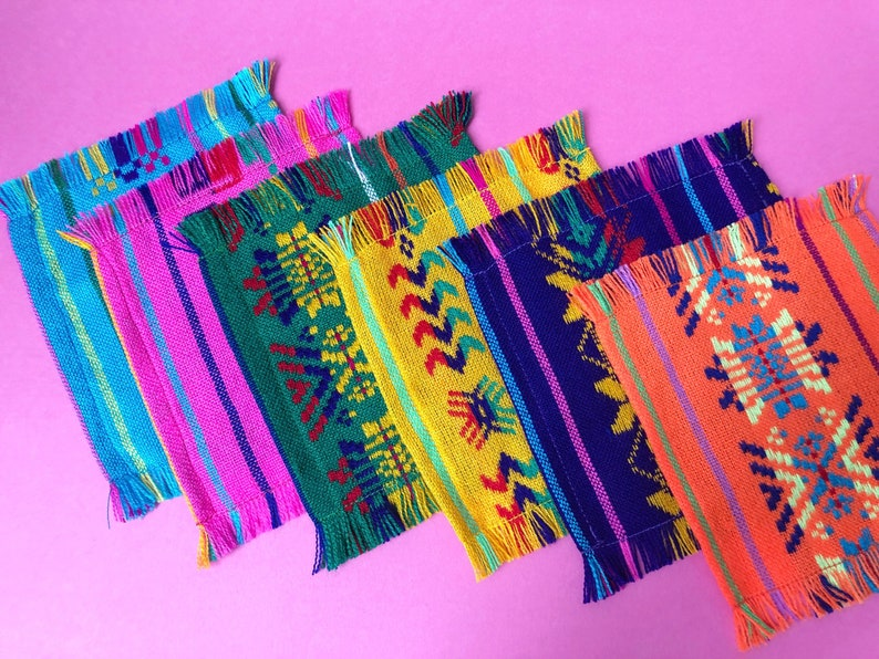 e1030d7ece6 Mexican cocktail napkins Set of 6. Assorted colors Fiesta
