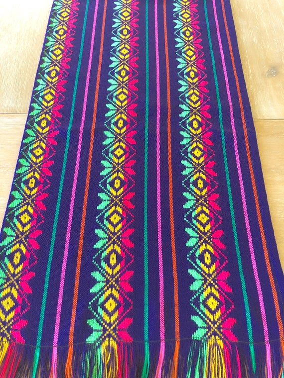 Mexican Table Runner Tablecloth Or Napkins Purple Boho