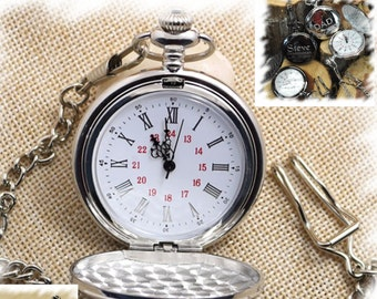 Engraved Pocket Watch , Engraved Mens Pocket Watch, Monogrammed Watch, Gift for Groom,Steampunk pocket watch, personalized pocket watch