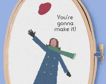MARY TYLER MOORE Show - Modern Counted Cross Stitch Pattern - pdf instant download