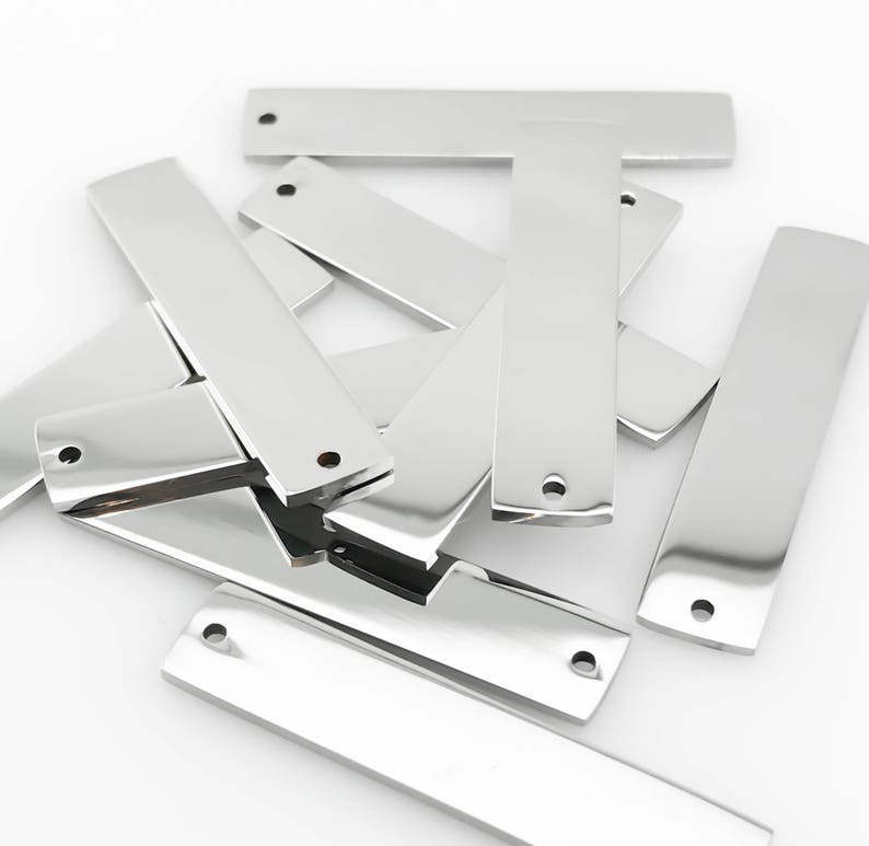 Package of 10 Highly Polished Stainless Steel Blanks High image 0