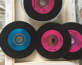 retro cd coasters