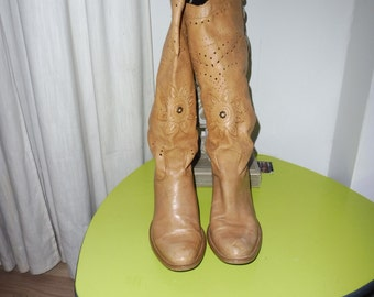 Cowboy boot size 37 en leather boots