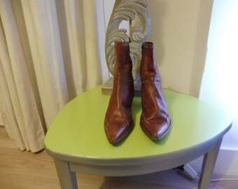 Cowboy boot size 39 en leather boots