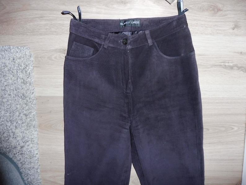 Leather skin BLACKY DRESS pants size S 36 GB