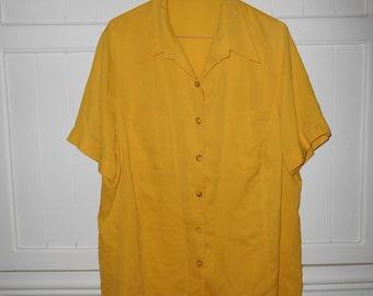 Vintage silk blouse size 46 FR (XXL) - 1980s