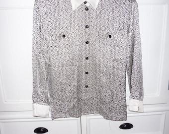 ESCADA silk blouse size 40 FR - 1980s