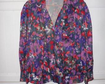Blouse jacket size 46 FR (XXL) - 1980s