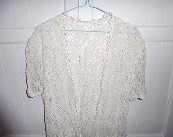 Lace Cardigan size 38-40 FR - 1970s
