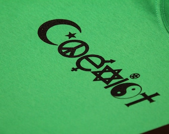 Long Sleeve Coexist Screen Print T-shirt in Mens or Womens Sizes S-3XL
