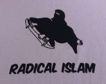 Babies and Toddlers Radical Islam (Burka Skater) Onesie or Tot's Tee in Size Newborn, 6 Months, 12 Months, T2, T3, & T4