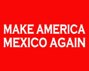 Make America Mexico Again Screen Print Hoodie Sizes S-5XL