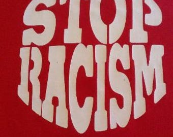Kid's Stop Racism Screen Print T-shirt in Kids S-L