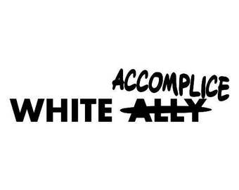 Kids White Accomplice Screen Print T-shirt in Kids S-L
