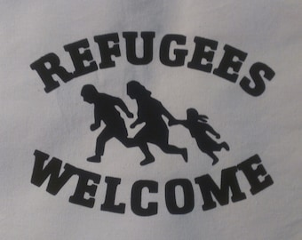 Refugees Welcome Canvas Tote Bag