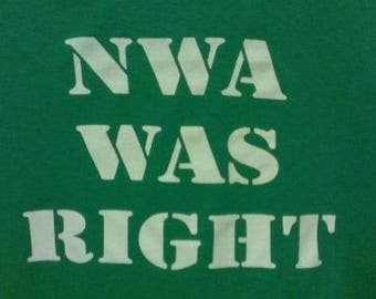 Kids T-Shirt NWA Was Right Screen Print T-shirt in Kids S-L